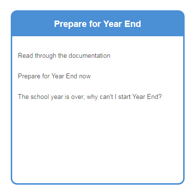 Year End Guide Support Documentation - Process documentation guide