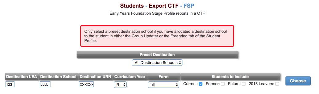 How do I create a CTF to export my statutory assessment data
