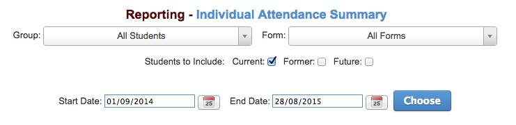 Attendance Reports – Support Documentation