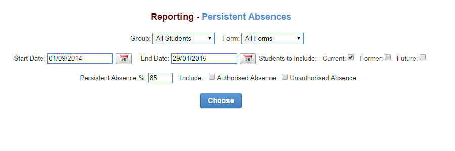 Attendance reports support documentation how do i order filter or remove data spiritdancerdesigns Gallery